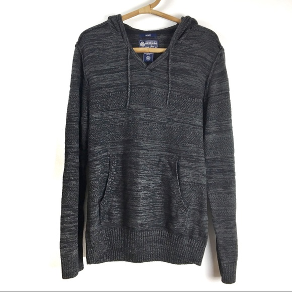 American Rag Other - American Rag | Grey knit hooded sweater | Large